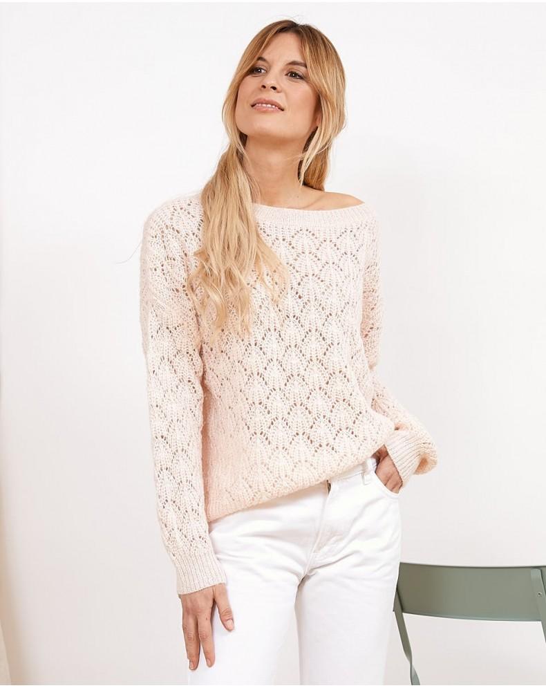 Jersey calados rosa chicle