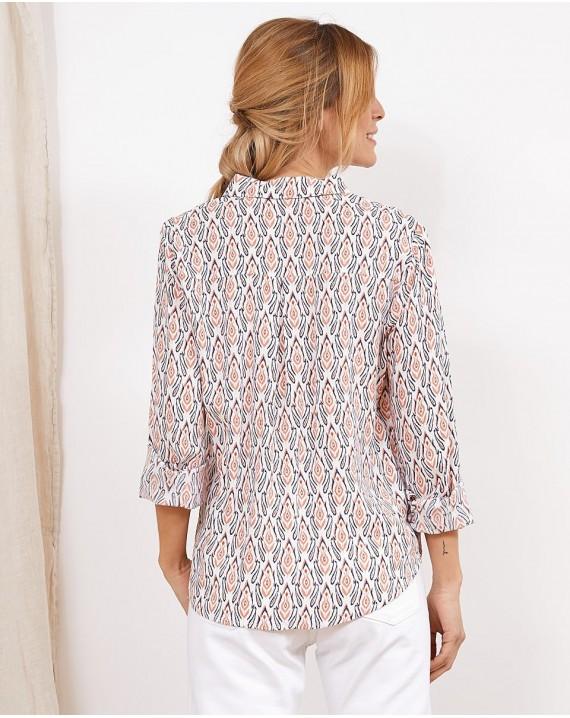 Camisa geométrico floral