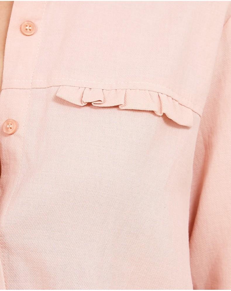 Camisa cuello bebé algodón