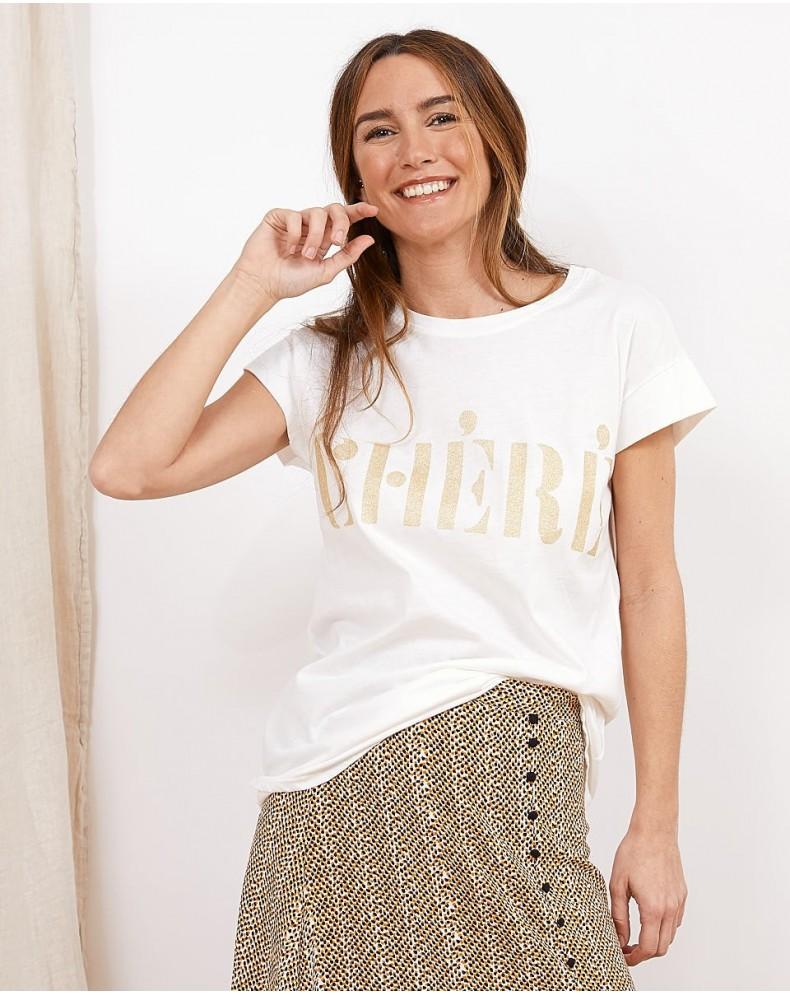 Camiseta mensaje Cherie