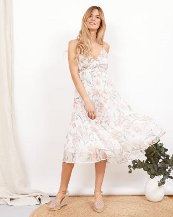Vestido tirantes flores Giulia