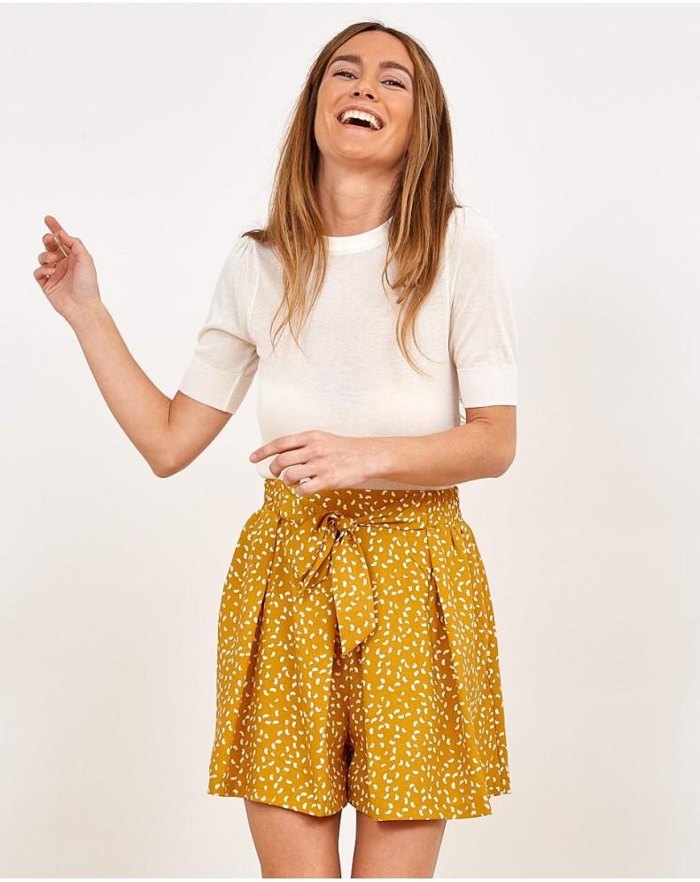 Pantalones cortos mostaza lazada
