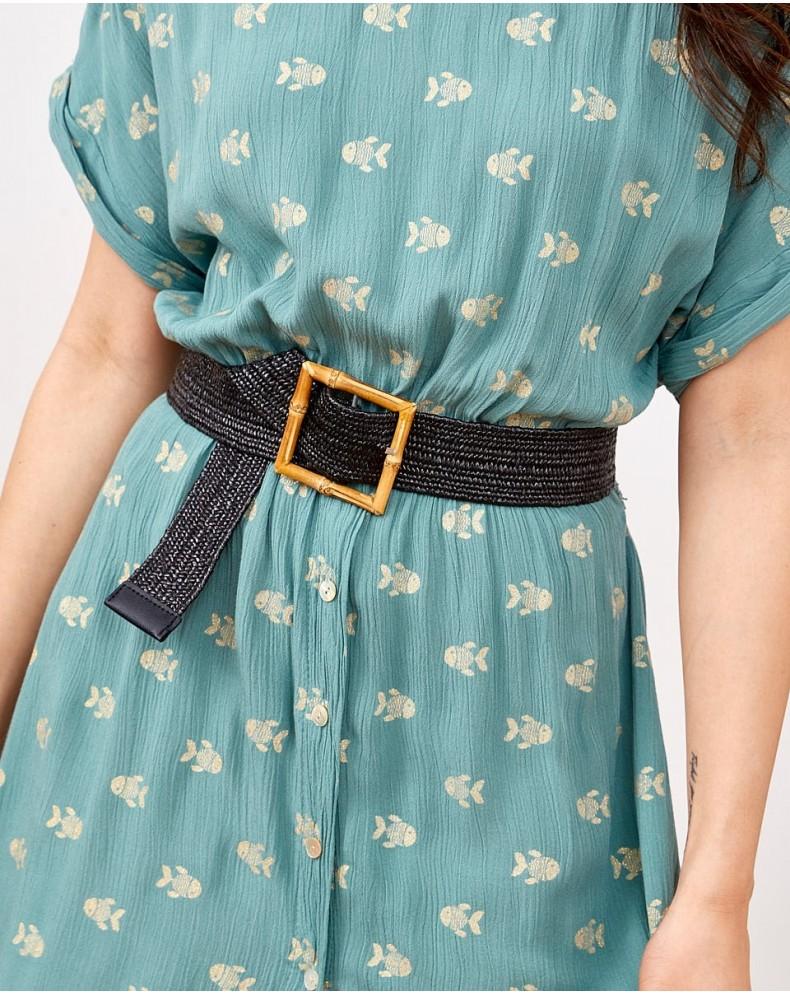Cinturón hebilla bambú