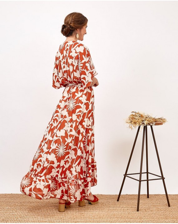 Vestido largo flores salvajes