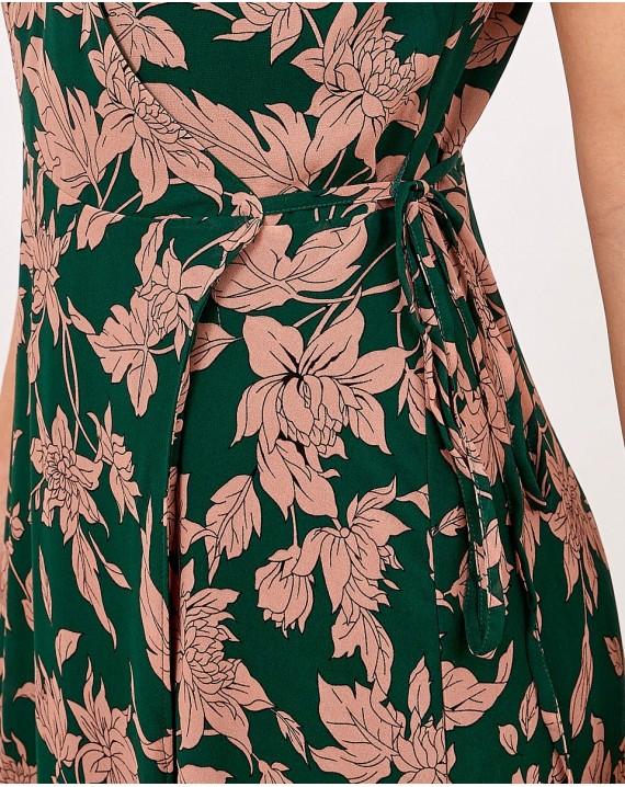 Vestido hojas Adara