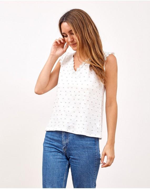 Camiseta flores Calatea