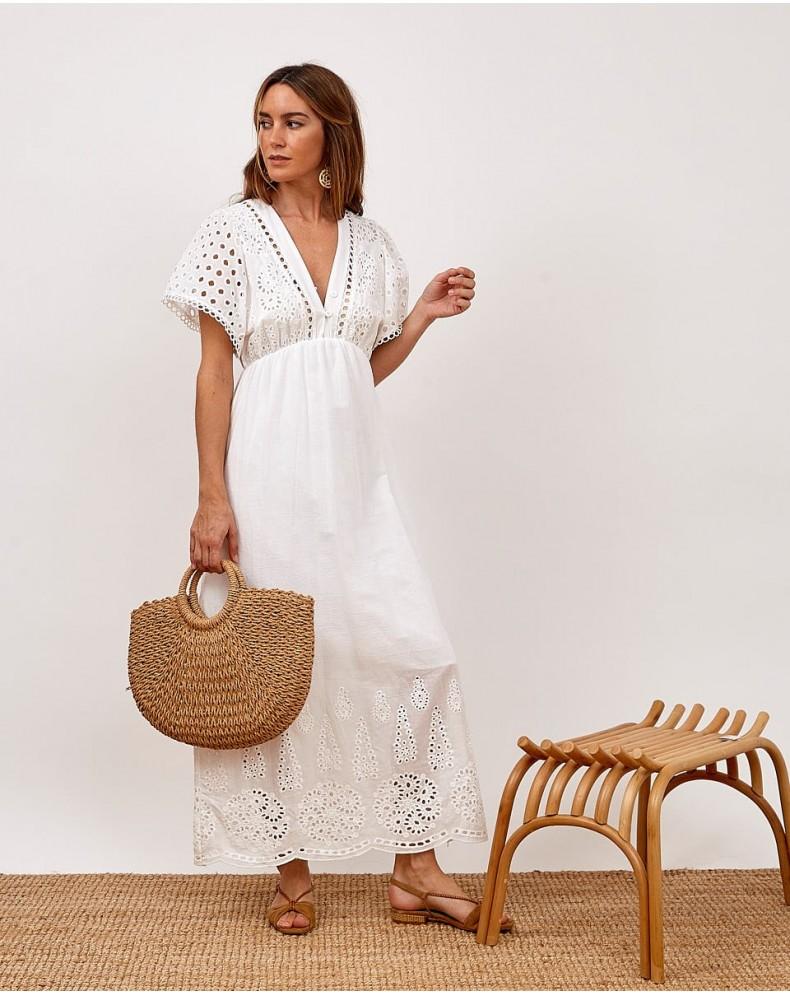 Vestido largo Virginia blanco