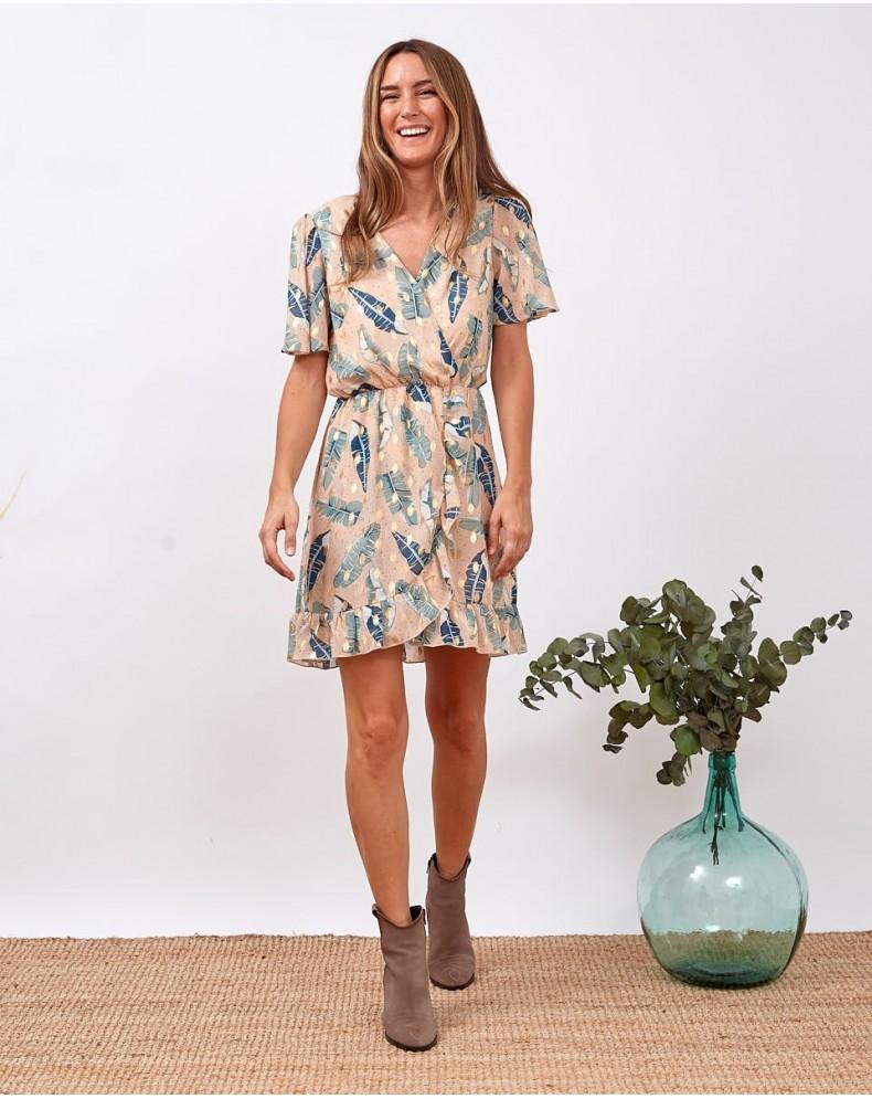 Vestido hojas Silvia