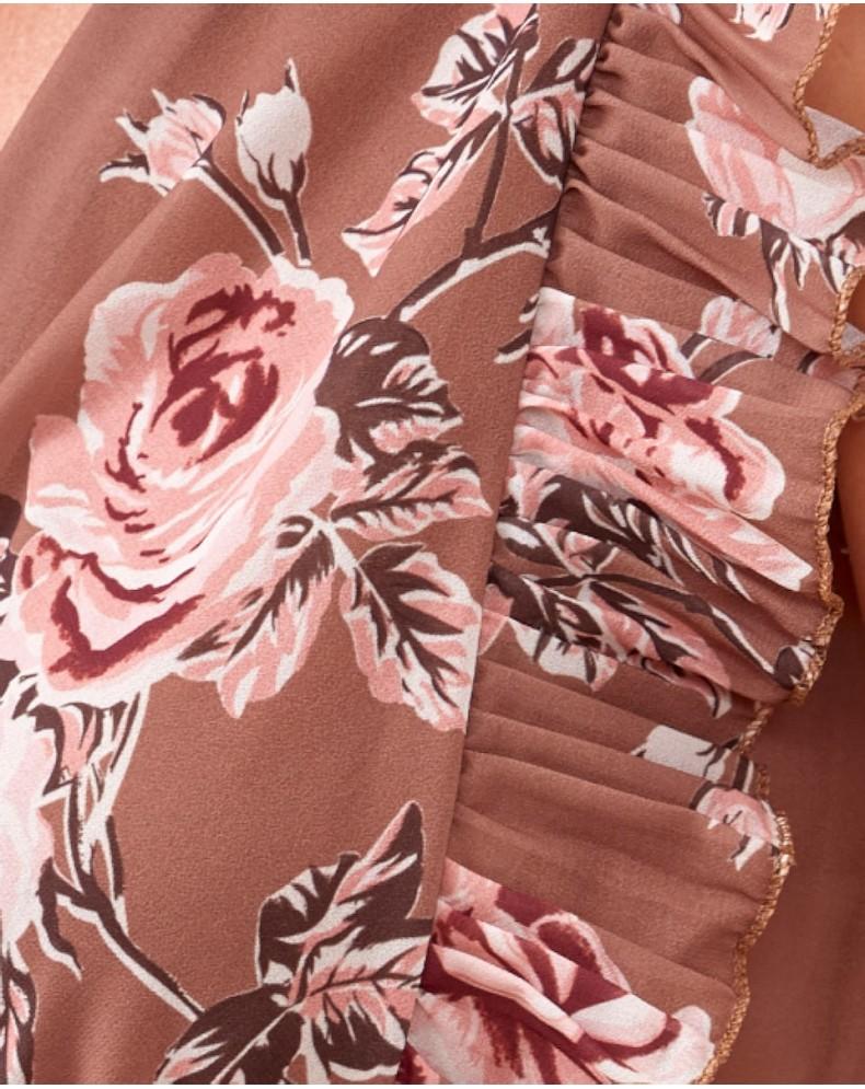 Vestido largo rosas Laia