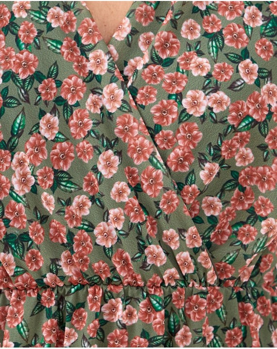 Vestido florecitas manga volante