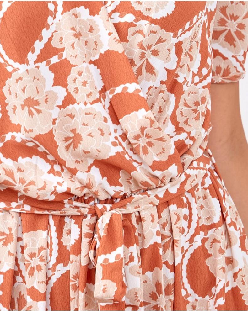 Vestido flores caldero