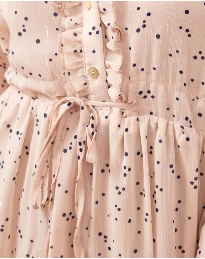 Vestido largo lunares Margot