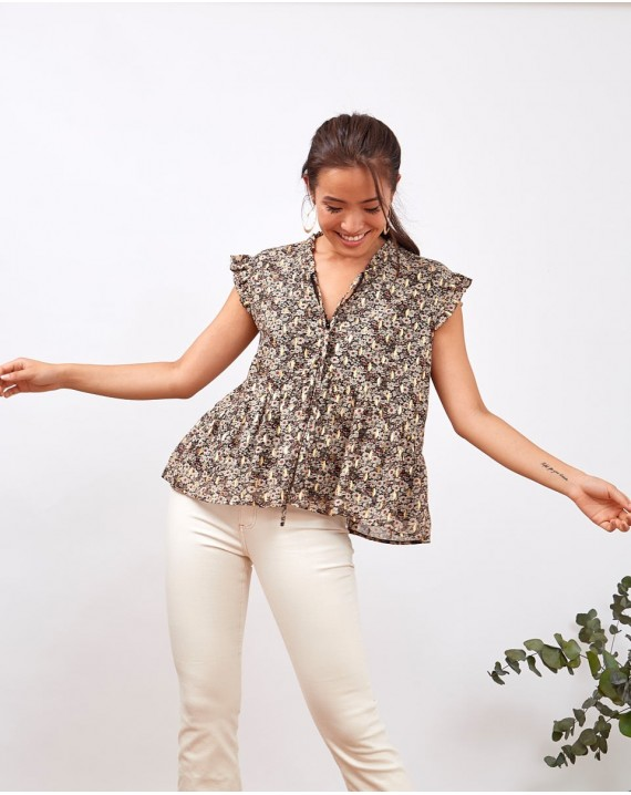 Blusa florecitas Nicolle