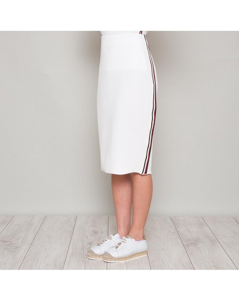 Falda midi raya sport