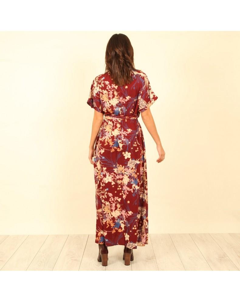 Vestido flores estilo oriental