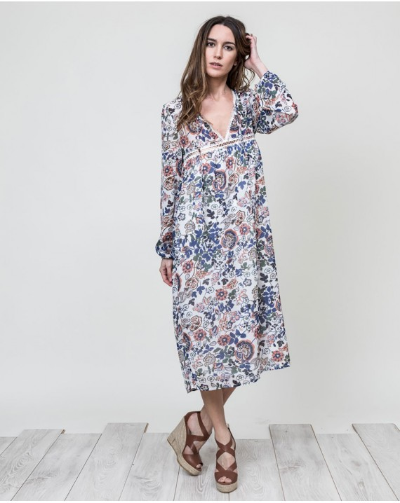 Vestido boho chic flores