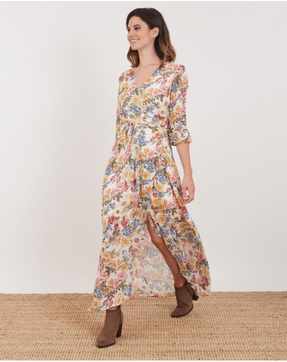 VESTIDO ML LARGO FLORAL
