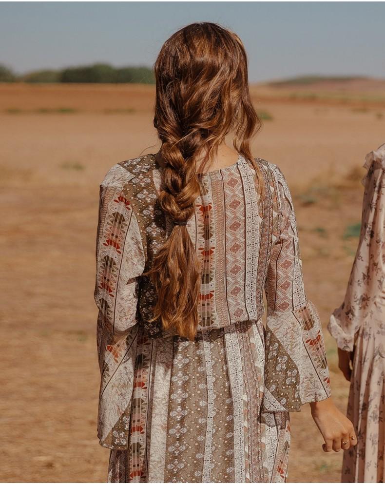 Vestido largo estampado paisley Jara