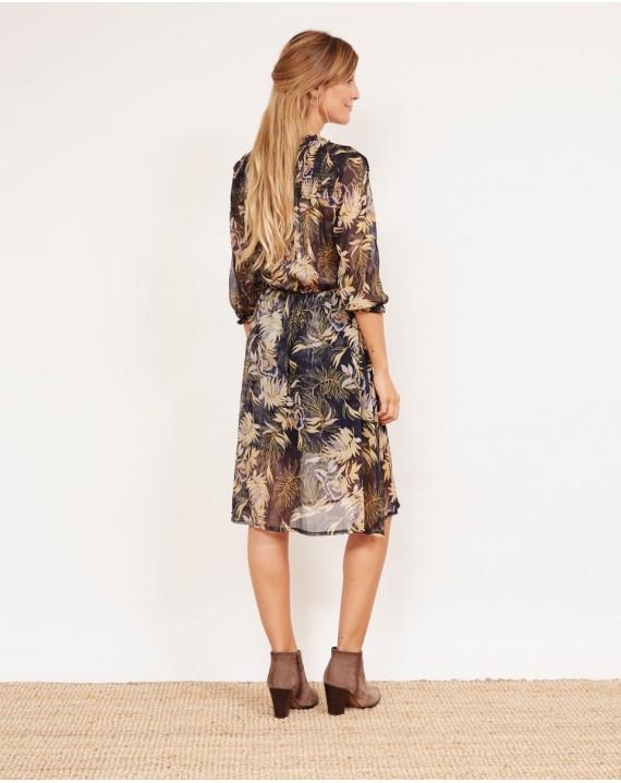 Vestido midi boho floral chic