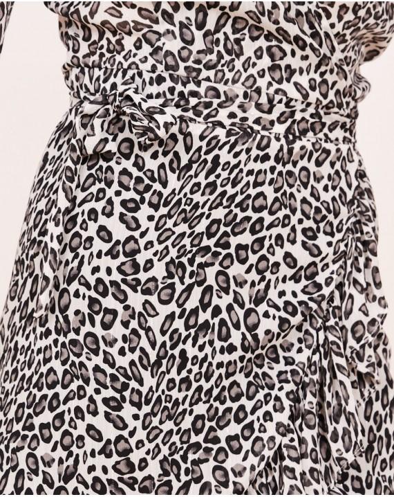 Vestido corto Léopard soft