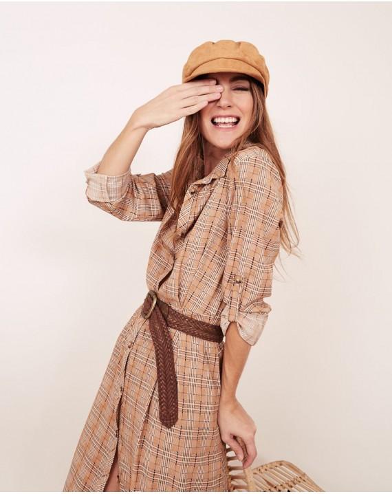Vestido camisero cuadros Carol